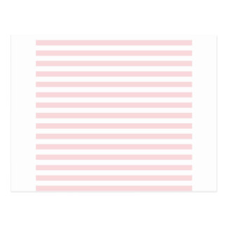 Thin Stripes - White and Pale Pink Postcard
