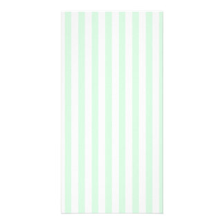 Thin Stripes - White and Pastel Green Card