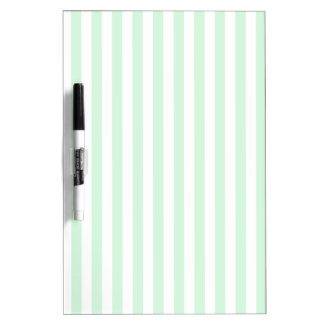 Thin Stripes - White and Pastel Green Dry-Erase Boards
