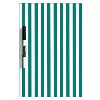 Thin Stripes - White and Pine Green Dry-Erase Whiteboard