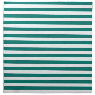 Thin Stripes - White and Pine Green Napkin