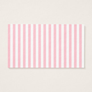 Thin Stripes - White and Pink Business Card