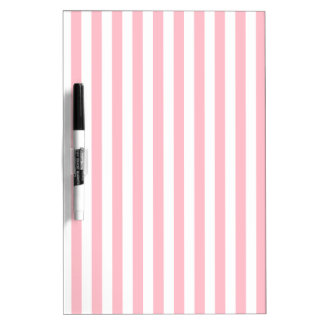 Thin Stripes - White and Pink Dry Erase White Board