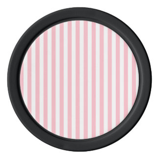 Thin Stripes - White and Pink Poker Chips Set