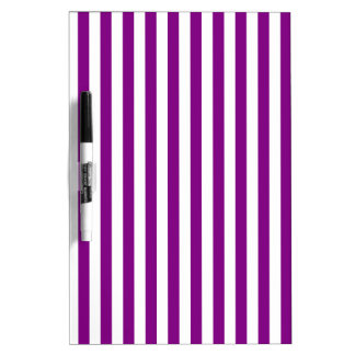 Thin Stripes - White and Purple Dry-Erase Whiteboards