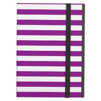 Thin Stripes - White and Purple iPad Air Case
