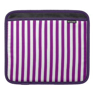 Thin Stripes - White and Purple iPad Sleeve
