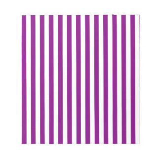 Thin Stripes - White and Purple Notepad