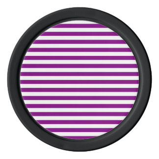 Thin Stripes - White and Purple Poker Chips Set