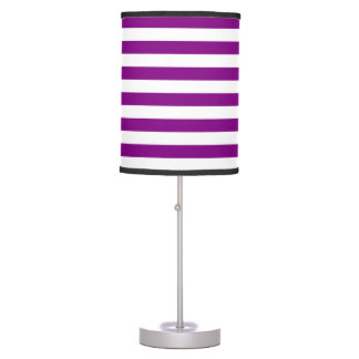 Thin Stripes - White and Purple Table Lamps