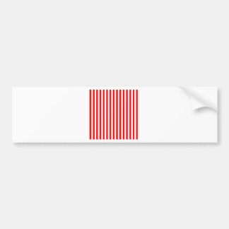 Thin Stripes - White and Red Bumper Sticker