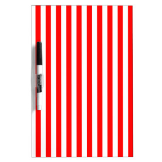 Thin Stripes - White and Red Dry Erase Board