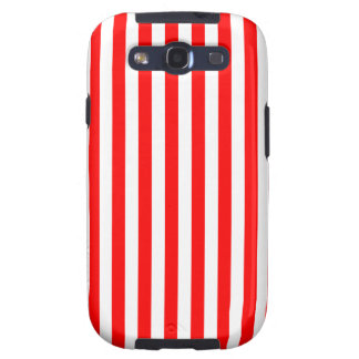 Thin Stripes - White and Red Galaxy SIII Cases