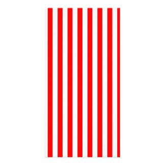 Thin Stripes - White and Red Personalized Photo Card