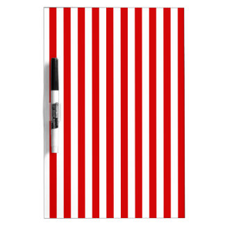 Thin Stripes - White and Rosso Corsa Dry-Erase Boards