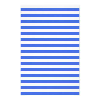 Thin Stripes - White and Royal Blue Custom Stationery