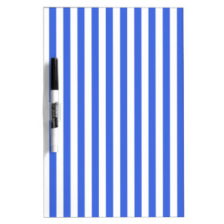 Thin Stripes - White and Royal Blue Dry Erase Boards