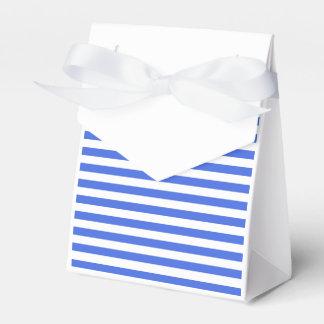 Thin Stripes - White and Royal Blue Favor Box
