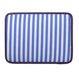 Thin Stripes - White and Royal Blue Sleeves For MacBook Pro