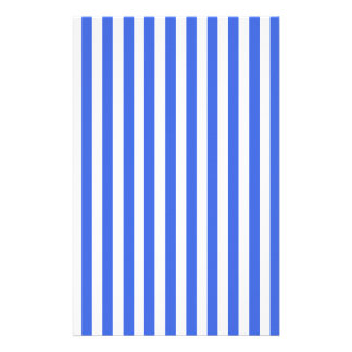 Thin Stripes - White and Royal Blue Stationery Paper