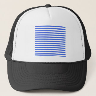 Thin Stripes - White and Royal Blue Trucker Hat