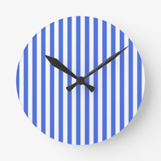 Thin Stripes - White and Royal Blue Wallclock