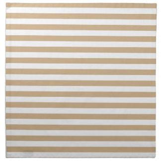 Thin Stripes - White and Tan Napkin