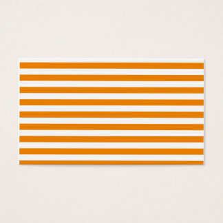 Thin Stripes - White and Tangerine Business Card