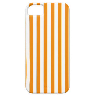 Thin Stripes - White and Tangerine iPhone 5 Case