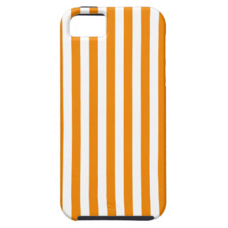 Thin Stripes - White and Tangerine iPhone 5 Cover