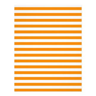 Thin Stripes - White and Tangerine Letterhead