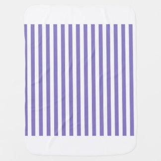 Thin Stripes - White and Ube Baby Blanket