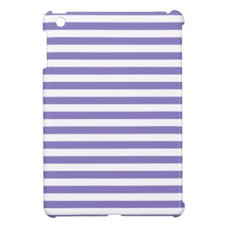 Thin Stripes - White and Ube Cover For The iPad Mini