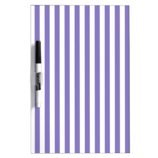 Thin Stripes - White and Ube Dry Erase Boards