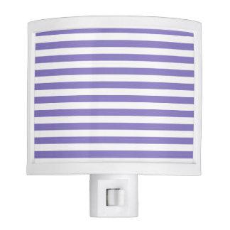 Thin Stripes - White and Ube Nite Lights