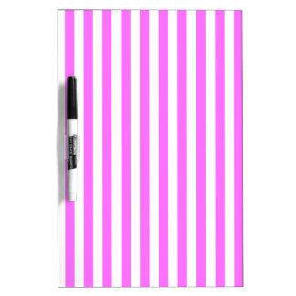 Thin Stripes - White and Ultra Pink Dry-Erase Whiteboard
