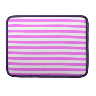 Thin Stripes - White and Ultra Pink Sleeve For MacBooks