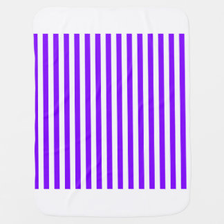 Thin Stripes - White and Violet Baby Blanket