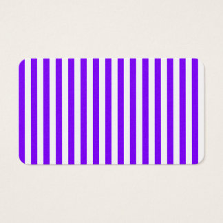 Thin Stripes - White and Violet Business Card