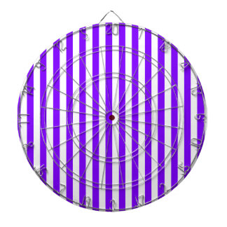 Thin Stripes - White and Violet Dartboard