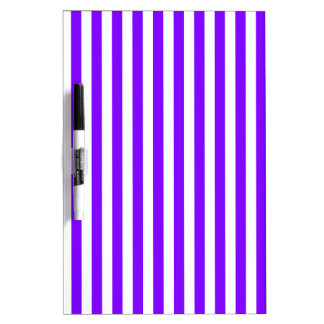 Thin Stripes - White and Violet Dry Erase Board
