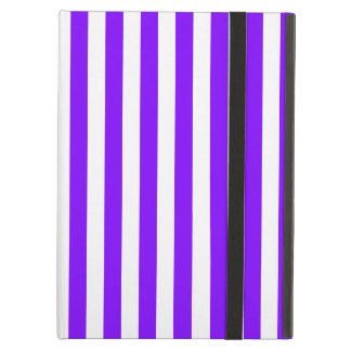 Thin Stripes - White and Violet iPad Air Cover