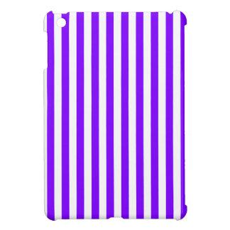 Thin Stripes - White and Violet iPad Mini Case