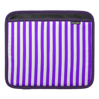 Thin Stripes - White and Violet iPad Sleeve