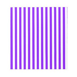 Thin Stripes - White and Violet Notepad