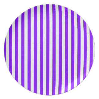 Thin Stripes - White and Violet Plates