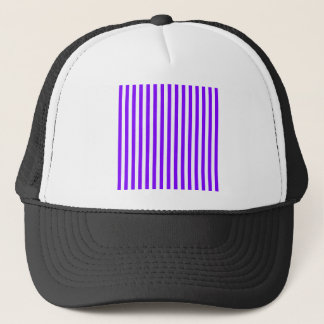 Thin Stripes - White and Violet Trucker Hat