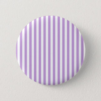 Thin Stripes - White and Wisteria 2 Inch Round Button