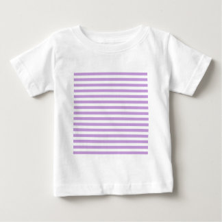 Thin Stripes - White and Wisteria Baby T-Shirt