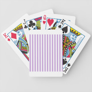 Thin Stripes - White and Wisteria Bicycle Playing Cards